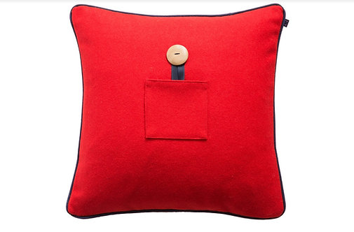 Lambswool Cushions/Covers - Berry Red