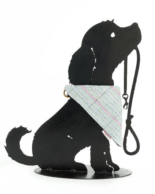 Dog Cravats - Chicott Harris Tweed - Pale blue