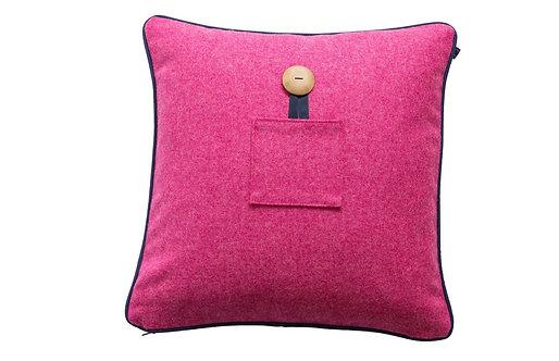 Lambswool Cushions - Fuchsia