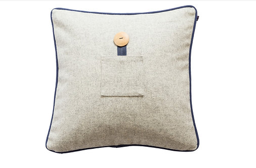 Lambswool Cushions/Covers - Silver Grey