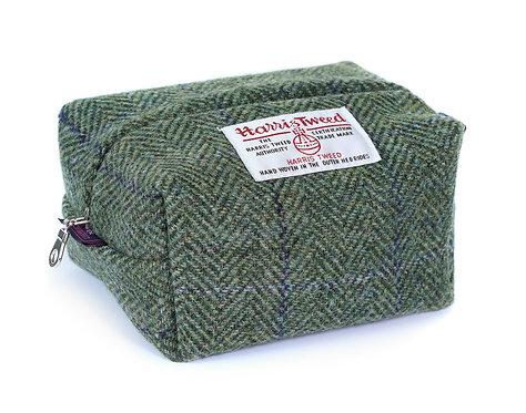 Kit Bag - Chilcott Harris Tweed Green Herringbone Lilac Overcheck