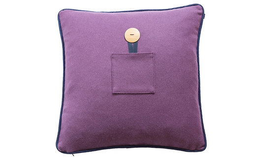 Lambswool Cushion Cover - Lavender