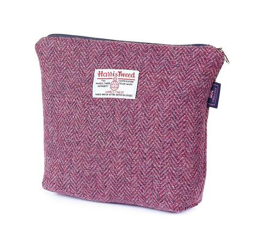 Kit Bag - Chilcott Harris Tweed® Pink on Heather Herringbone