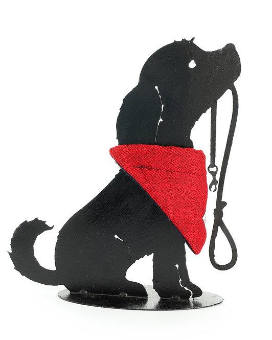 Dog Cravats - Chicott Harris Tweed - Red Herringbone