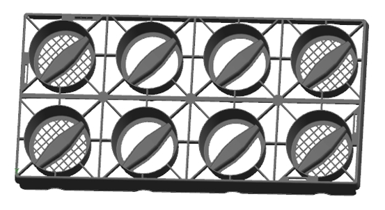 """19.61"""" 8-Pack Tray"""