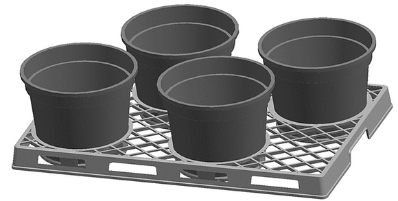 """21"""" 4-Pack Tray"""