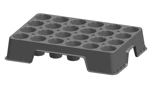 "21.8"" 24-Pack Tray"