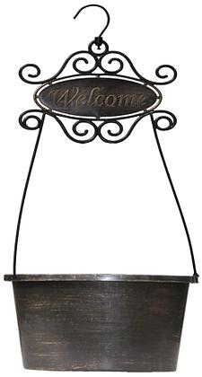 "13"" Welcome Hanging Basket 1.5-Gal"