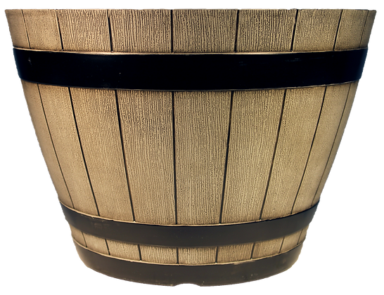 "15"" Whiskey Barrel 5-Gal"