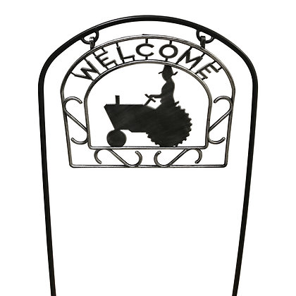 "10"" Tractor Welcome 2-Gal"