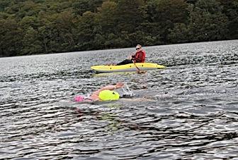 Annie Coniston E2E, kayak support