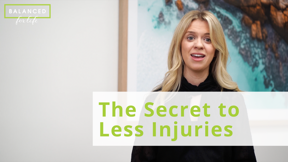 The Secret to Less Injuries
