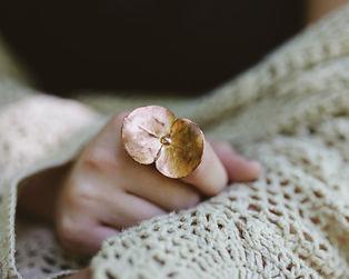 Eucalyptus electroformed ring.