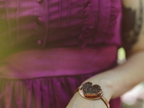 Druzy Heart Bracelet