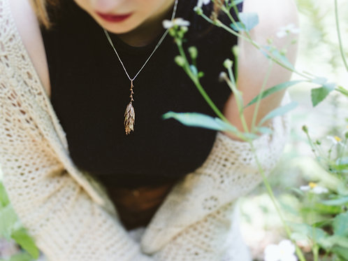 Electroformed Wheat Necklace