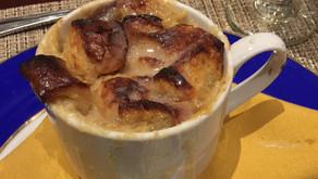 Version littéraire d'une recette louisianaise de pouding au pain et au chocolat blanc...