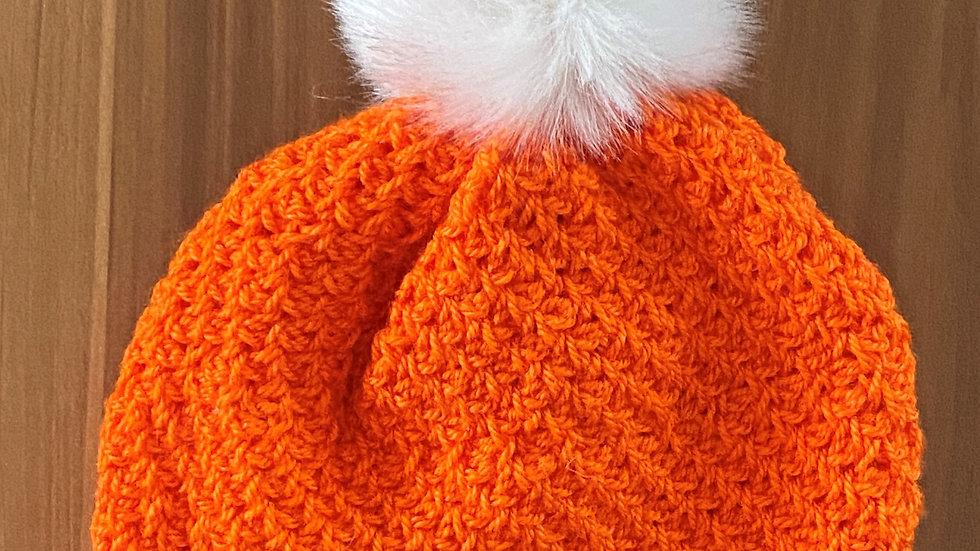 Child's Tunisian Crochet Hat