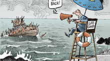 The outsourcing of asylum and immigration policies - an European hypocrisy.