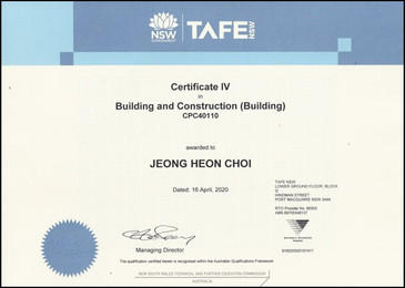 Building and Construction Certificate IV