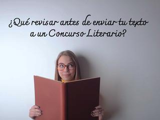 ¿Qué revisar antes de enviar tu texto a un Concurso Literario?