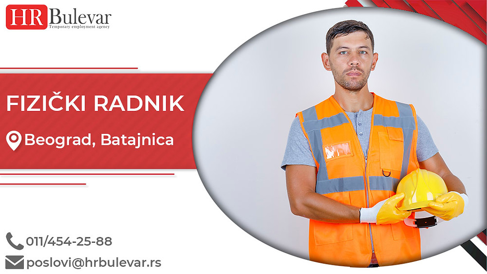 Omladinska zadruga Bulevar, Oglasi za posao,  Fizički radnik, Beograd, Srbija