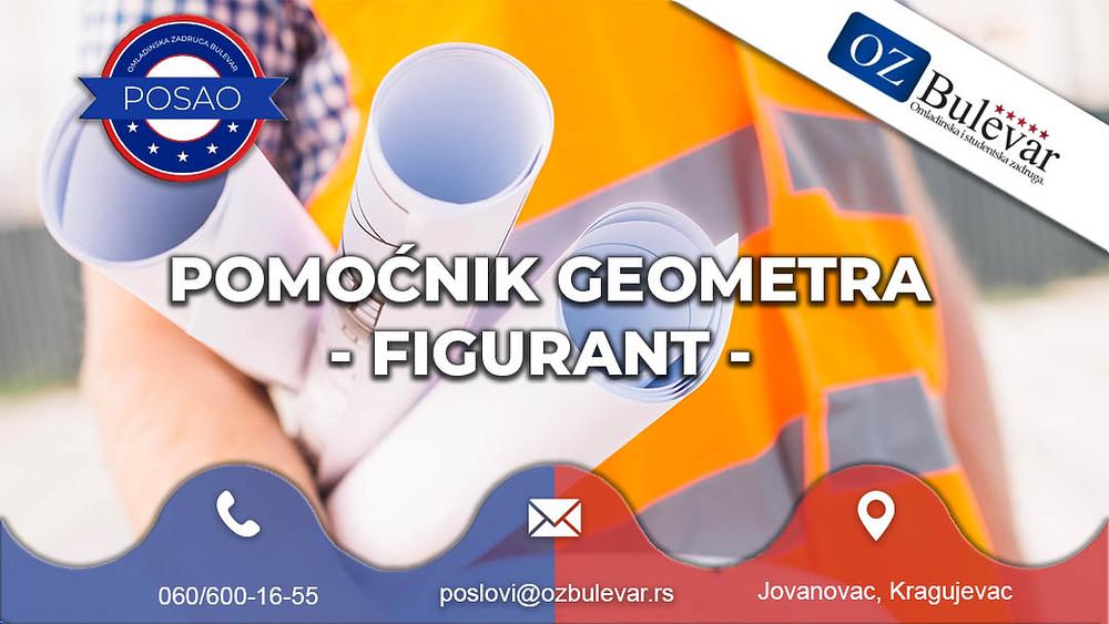 Omladinska zadruga Bulevar, Oglasi za posao, Studentski posao, Pomoćnik geometra, Jovanovac, Kragujevac