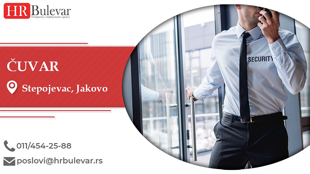 HR Bulevar, Stepojevac, Jakovo, Poslovi, Čuvar, Oglasi za posao, Stepojevac, Jakovo, Srbija