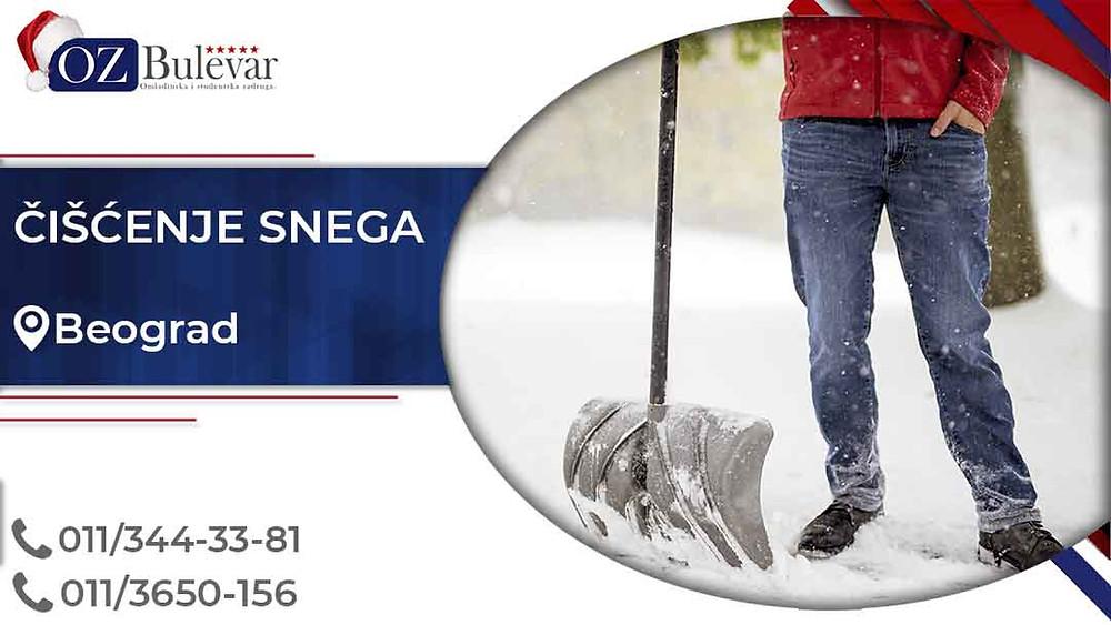Omladinska zadruga Bulevar; posao u Beogradu, Čišćenje snega, poslovi za studente; Oglasi za posao čišćenje snega