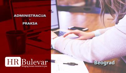 Administracija - praksa | Oglasi za posao, Beograd