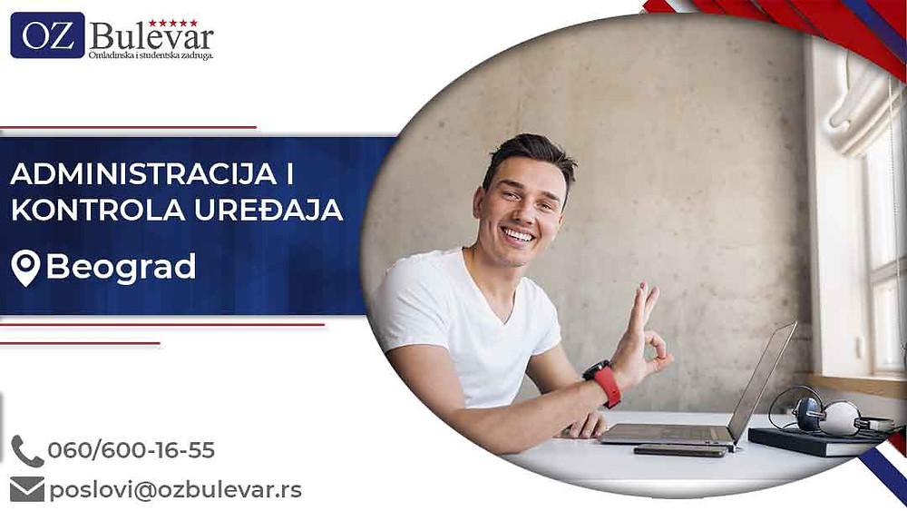 Omladinska zadruga Bulevar; posao u Beogradu, Čišćenje snega, poslovi za studente; Oglasi za posao administracija i kontrola uređaja