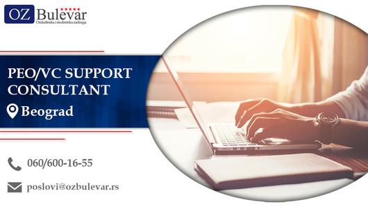 PEO/VC Support Consultant | Oglasi za posao, Beograd