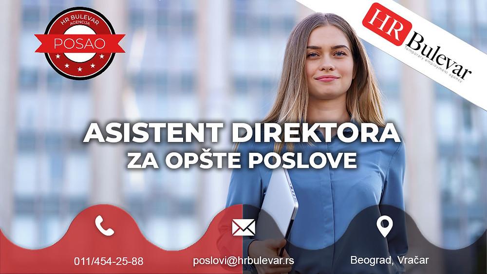HR Bulevar, Agencija za zapošljavanje; Oglasi za posao, Asistent, Beograd