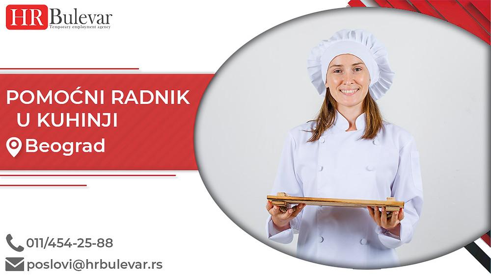 Agencija za zapošljavanje, Oglasi za posao, Pomoćni radnik u kuhinji, Beograd, Srbija