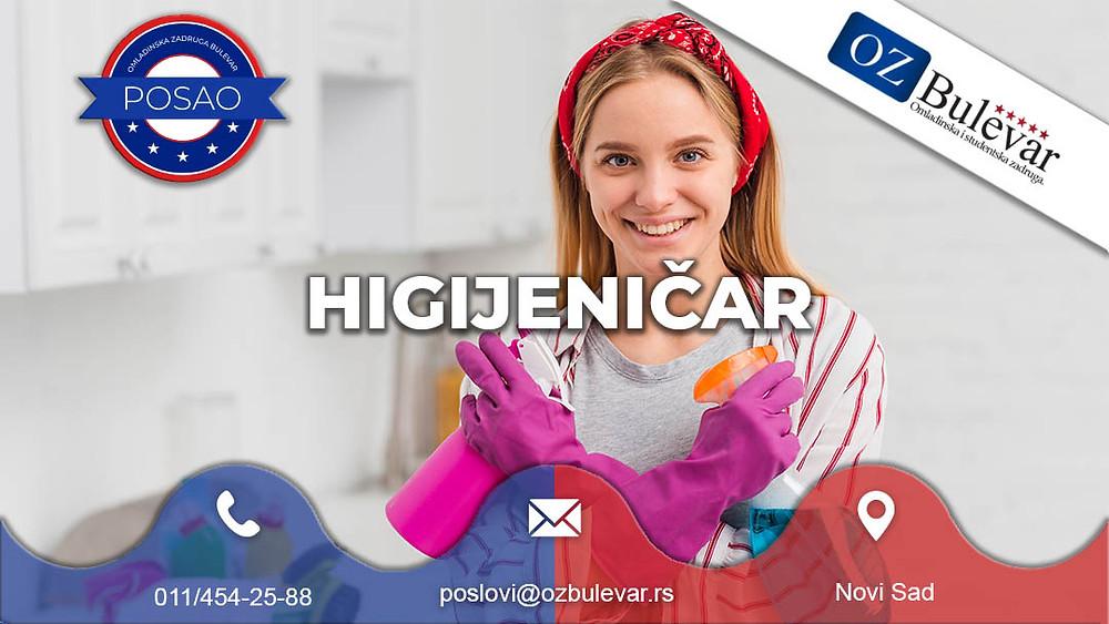 Omladinska zadruga Bulevar, Posao Novi Sad, Higijeničar