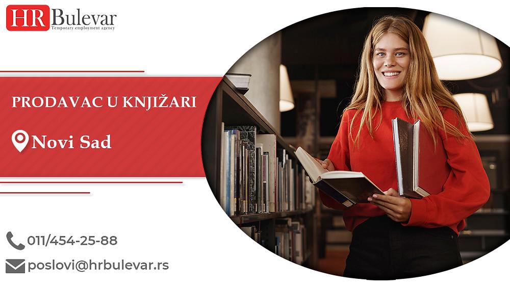 HR Bulevar, Oglasi za posao, Novi Sad, Prodavac u knjižari
