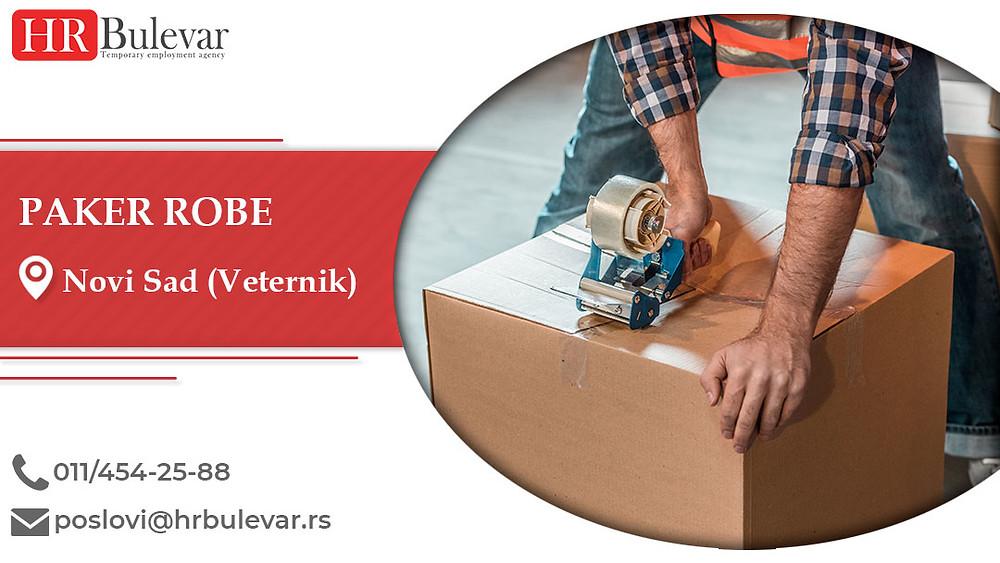 HR Bulevar, Paker robe, Poslovi, Oglasi za posao, Novi Sad (Veternik), Srbija