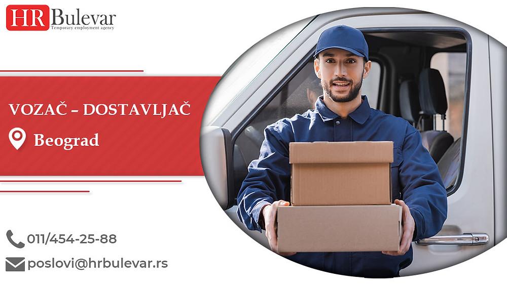 HR Bulevar, Beograd, Poslovi, Vozač – Dostavljač, Oglasi za posao, Beograd, Srbija
