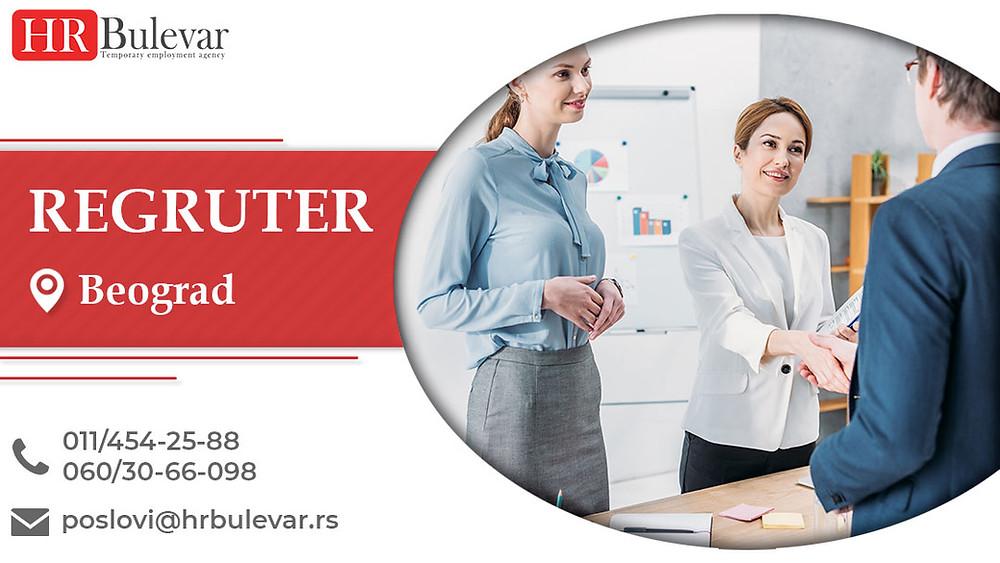 HR Bulevar, Beograd, Poslovi, Regruter, Oglasi za posao, Beograd, Srbija