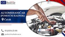 Automehaničar (Pomoćni radnik) | Oglasi za posao, Čačak