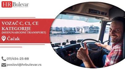Vozač C, C1, CE kategorije u međunarodnom transportu | Oglasi za posao, Čačak