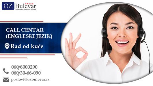 Call Centar (Engleski jezik)| Oglasi za posao, Rad od kuće