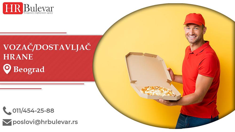 HR Bulevar, Beograd, Poslovi, Vozač/dostavljač hrane, Oglasi za posao, Beograd, Srbija