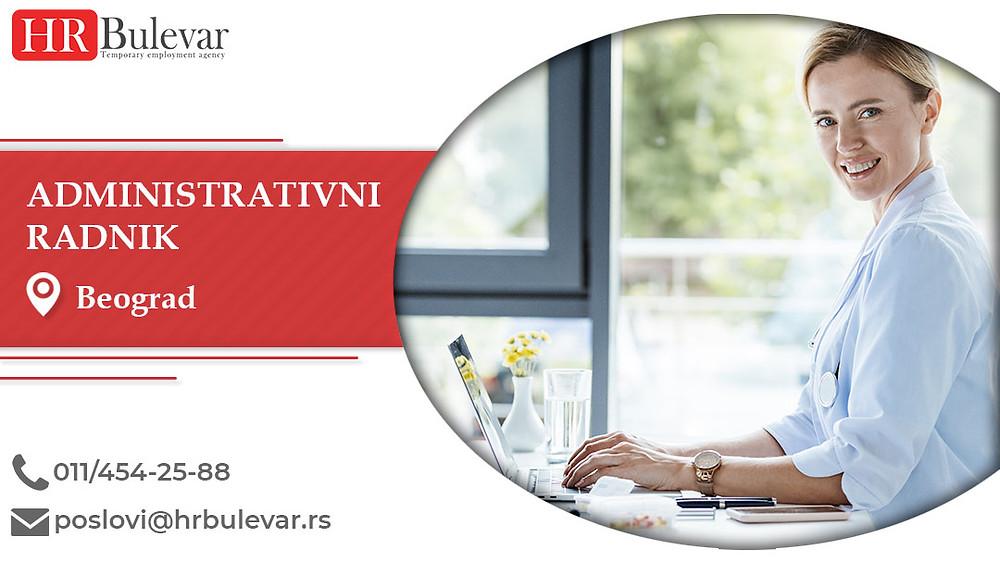 HR Bulevar, Beograd, Poslovi, Administrativni radnik, Oglasi za posao, Beograd, Srbija