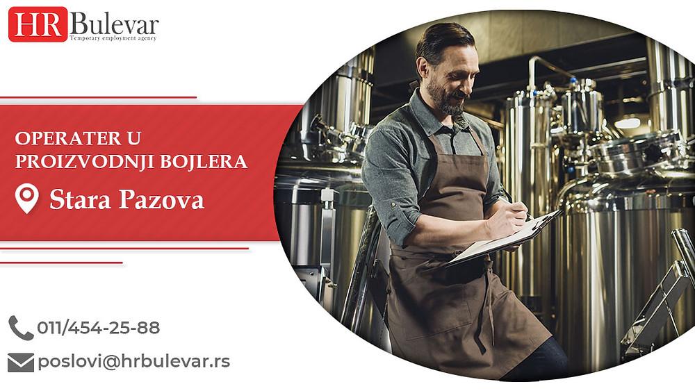 HR Bulevar, Operater u proizvodnji, Poslovi, Oglasi za posao, Stara Pazova, Srbija