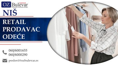 Retail Prodavac odeće | Oglasi za posao, Niš