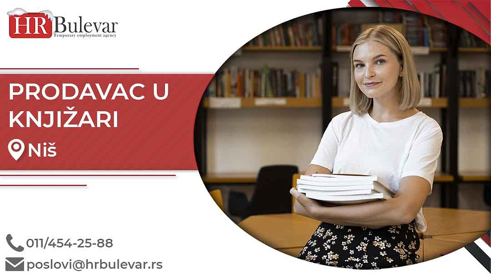 HR Bulevar, Oglasi za posao, Prodavac u knjižari, Niš,  Srbija