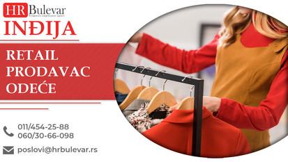Retail Prodavac odeće | Oglasi za posao, Inđija