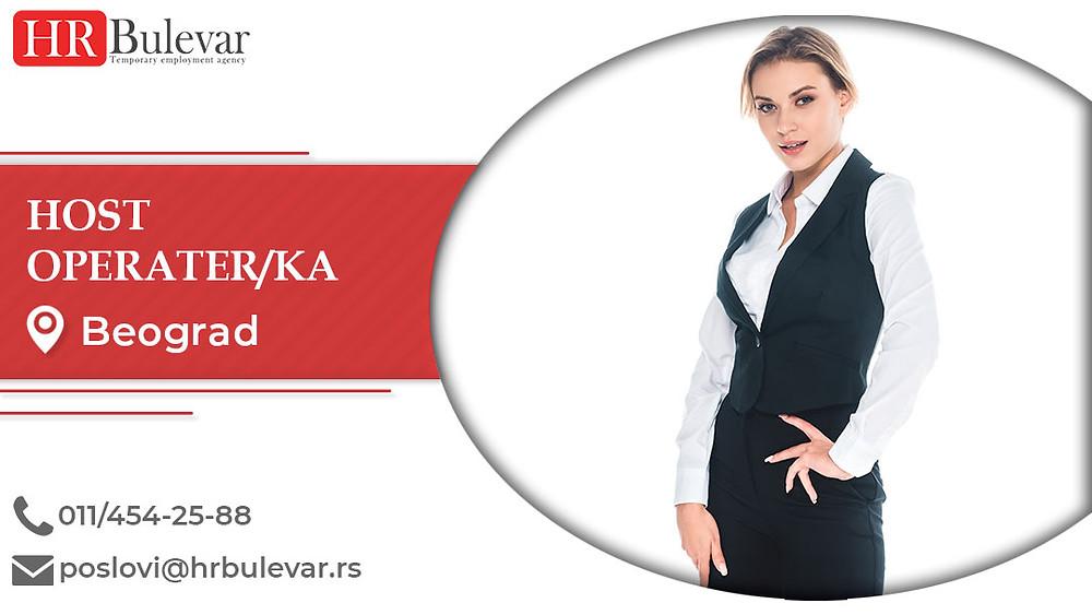 HR Bulevar, Host-operater/ka, Poslovi, Oglasi za posao, Beograd, Srbija
