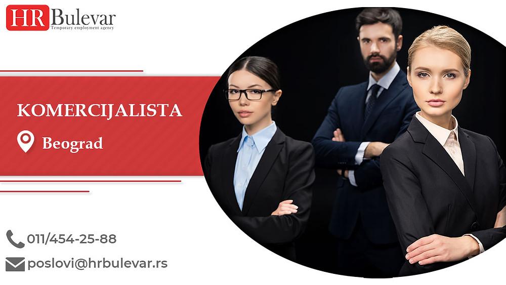 HR Bulevar, Beograd, Poslovi, Komercijalista, Oglasi za posao, Beograd, Srbija