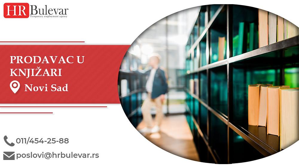 HR Bulevar, Prodavac u knjizari, Poslovi, Oglasi za posao, Novi Sad, Srbija